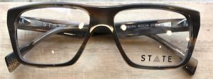 Optometrist, pair of State Optical Co. eyeglasses in Billings, Montana