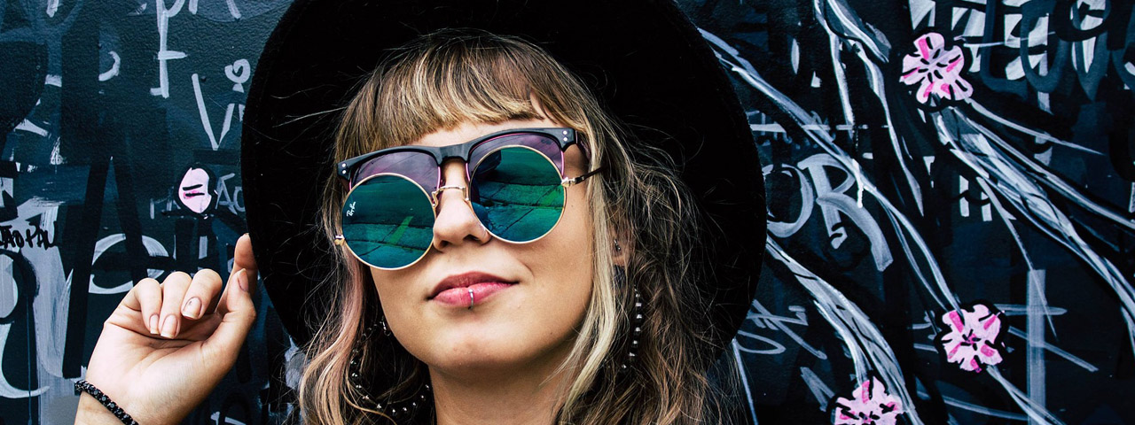 woman wearing Sunglasses in Billings, Montana.