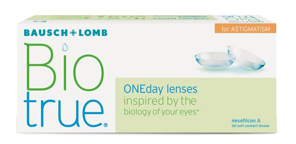 Eye doctor, box Biotrue ONEday Lenses for Astigmatism in Billings, MT