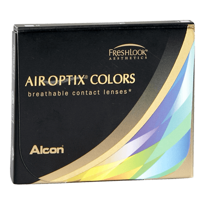 Eye doctor, box of Air Optix Colors contact lenses in Billings, MT