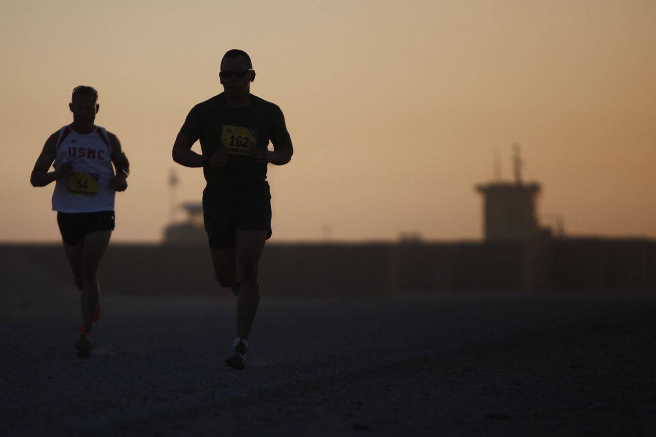 Men jogging in sunset, Eye Doctor in Dallas, TX