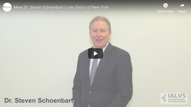 Screenshot 2019 04 07 Meet Dr Steven Schoenbart Low Vision of New York YouTube