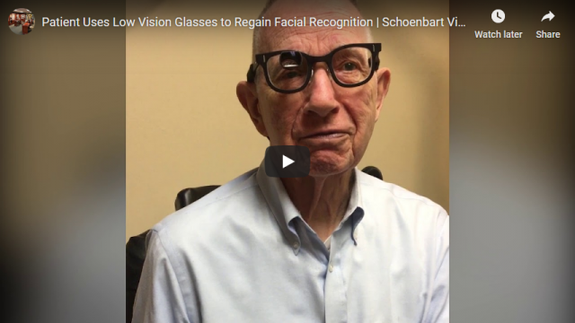 Screenshot 2019 12 31 Patient Uses Low Vision Glasses to Regain Facial Recognition Schoenbart Vision Care   YouTube