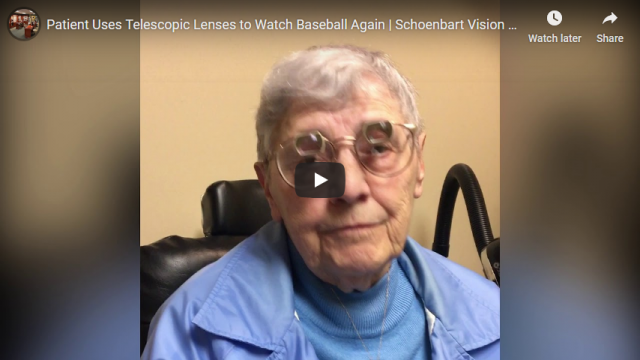 Screenshot 2019 12 31 Patient Uses Telescopic Lenses to Watch Baseball Again Schoenbart Vision Care YouTube