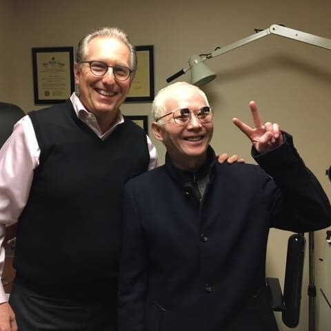 Dr. Schoenbart with a happy patient