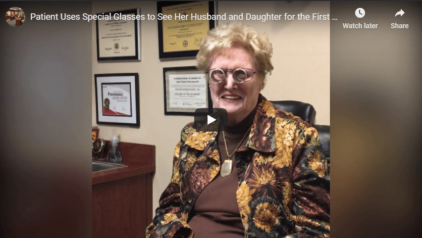 Patient Uses Special Glasses to See Her Husband and Daughter for the First Time in Years YouTube