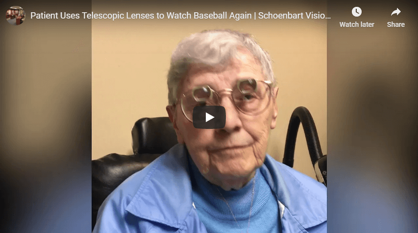 Patient Uses Telescopic Lenses to Watch Baseball Again Schoenbart Vision Care YouTube
