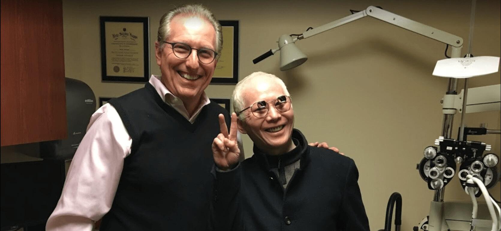 dr schoenbart with happy lv patient