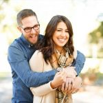 optometrist, Woman wearing scleral lenses, with boyfriend in eyeglasses in Tulsa, OK