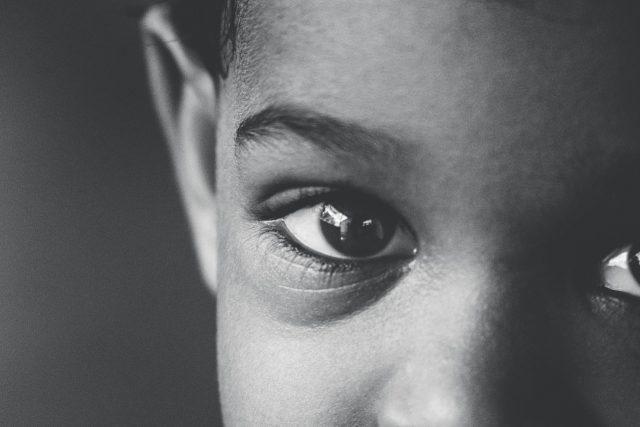 Optometrist, sad little boy in San Antonio, TX