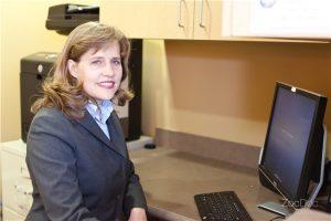 photo zocdoc Dr V front desk