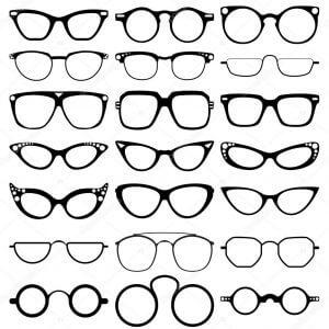 depositphotos 103098778 stock illustration glasses model icons man women
