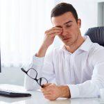A man having a dry eyes, Optometrist in Houston, TX