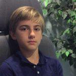 young boy managing his myopia eye care