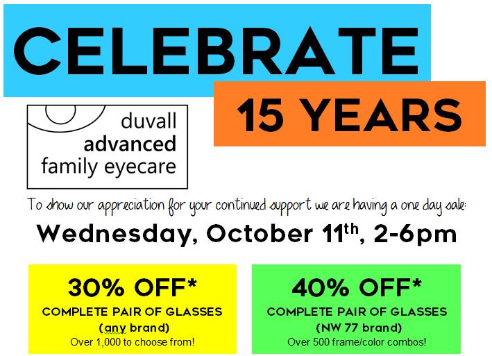 Duvall Eyecare Anniversary Sale