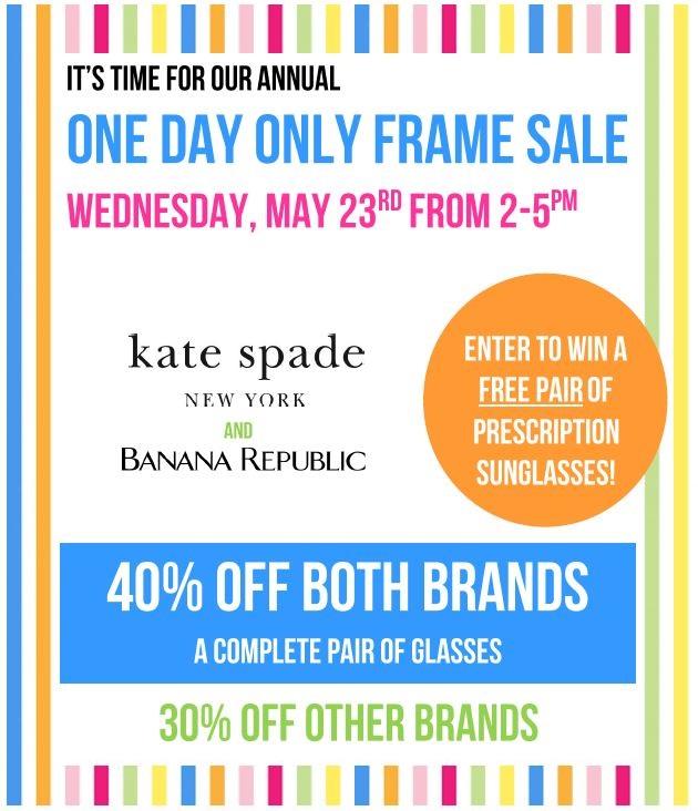 2018 Frame Sale Duvall Eyecare