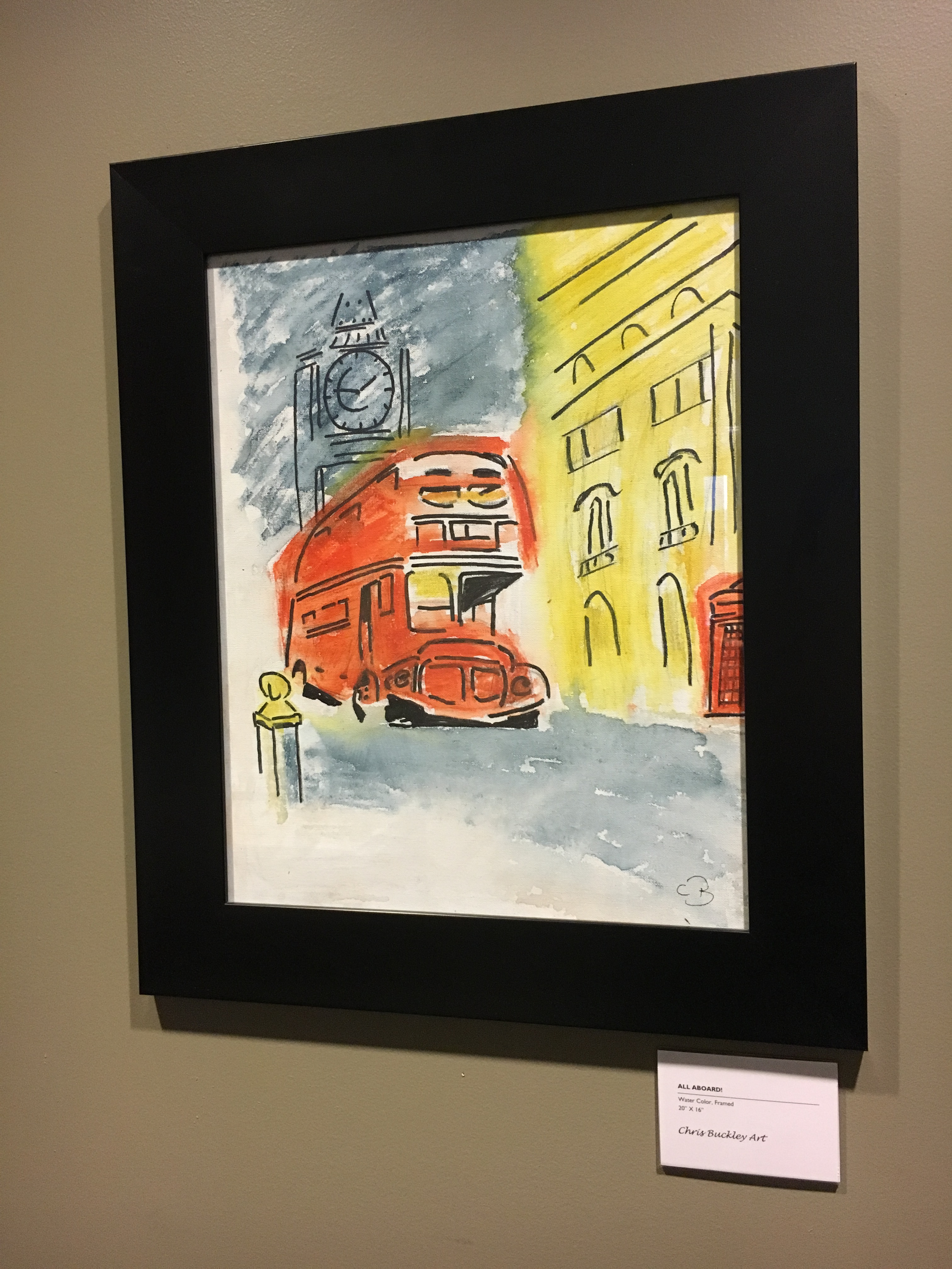 Quarterly rotational art from local artists on display in