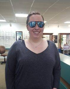 Katie Hunt is styling in her new Revo sunshades!
