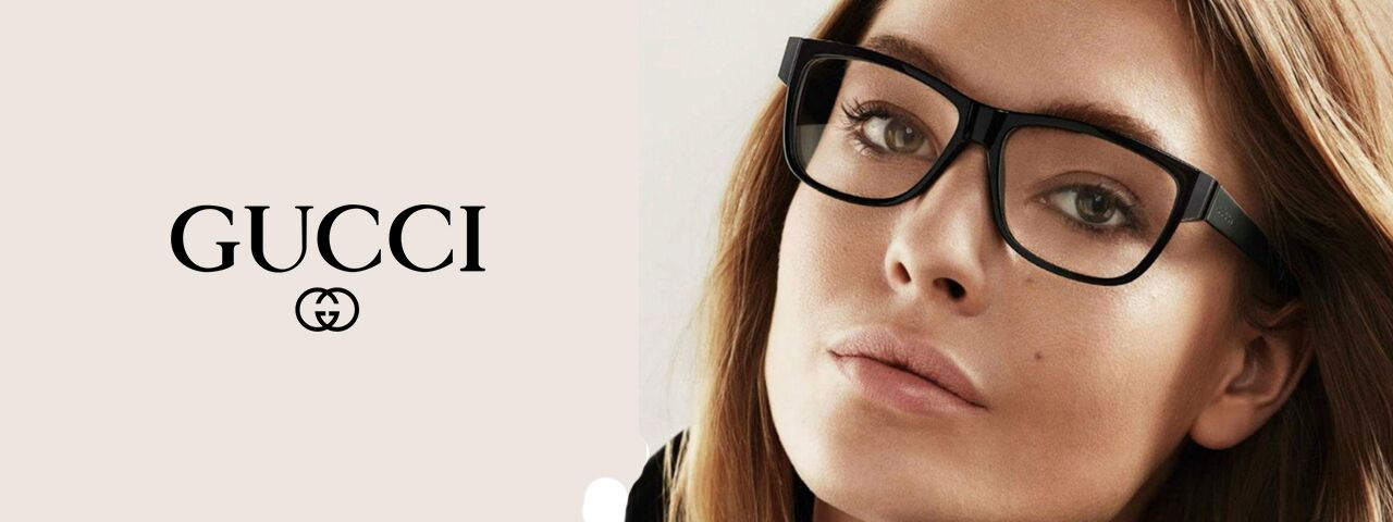 Woman wearing Gucci eyeglasses