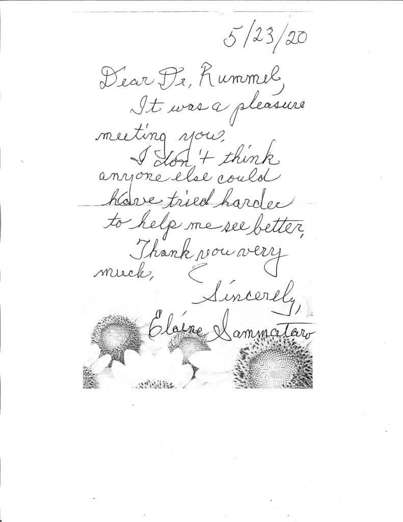 Dr Rummel Patient Compliment 1