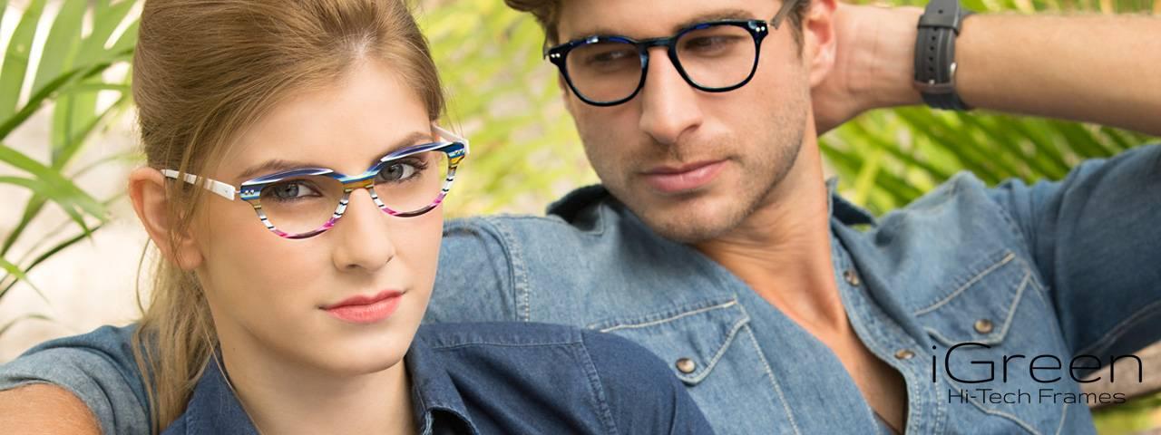 Eye care, couple wearing prescription eyeglasses in Houston, TX