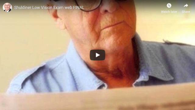 Screenshot 2019 04 12 Shuldiner Low Vision Exam web FINAL YouTube