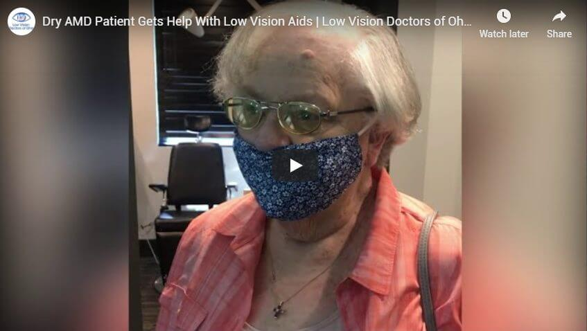 Dry AMD Patient Gets Help With Low Vision Aids