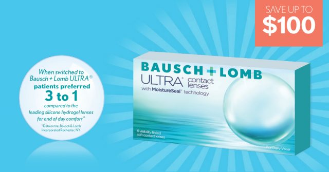 Bausch Lomb Ultra Contacts ad