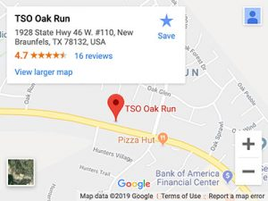 tso oak run directions map