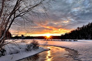 Winter Landscape Sunset