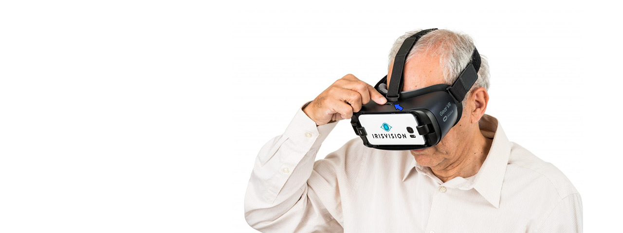 Older Man Experiencing IrisVision