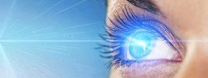 illustration of UV light on the eye