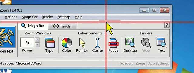 Window on computer screen