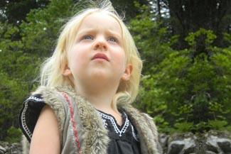 child girl in park