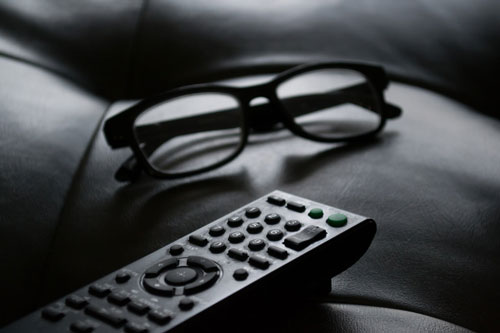 remote control with glasses