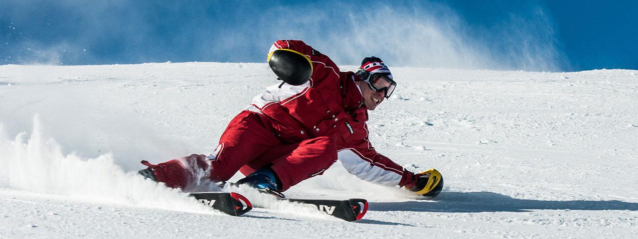 skiing hero