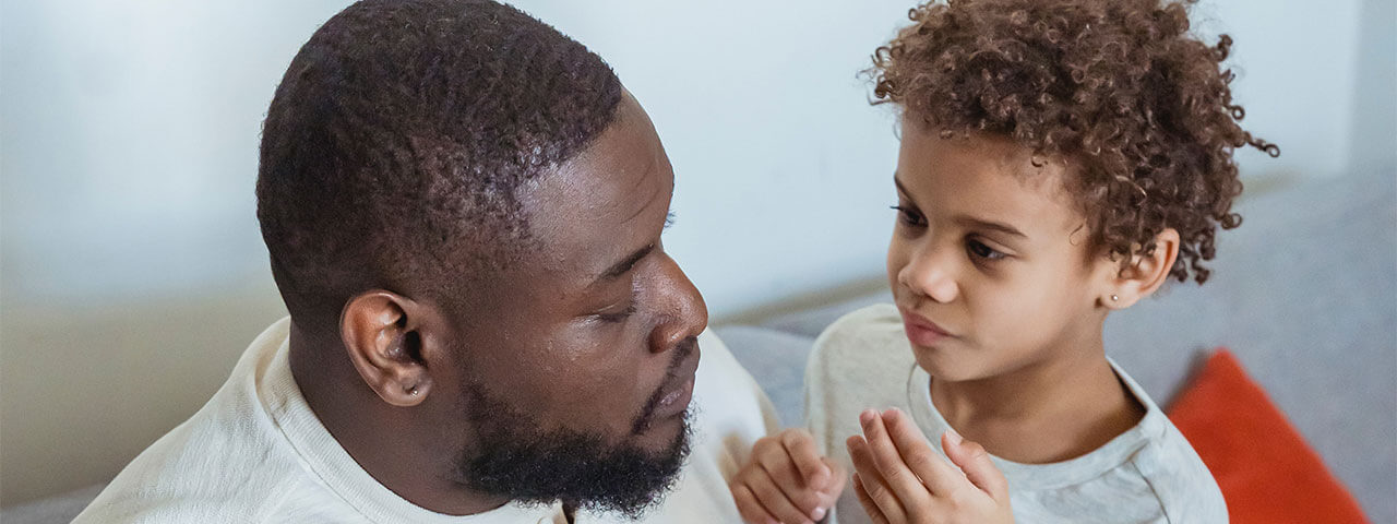 Man and boy going to Vision Therapy for Visual Processing Difficulties
