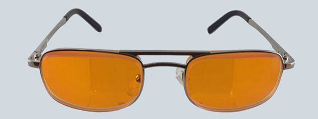 escoop mens orange glasses