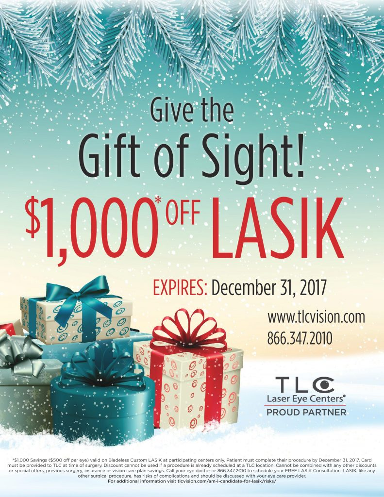Gift of Sight Flyer 1000 2017 $1000 off Lasik