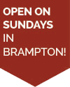 Open on Sundays in Brampton!