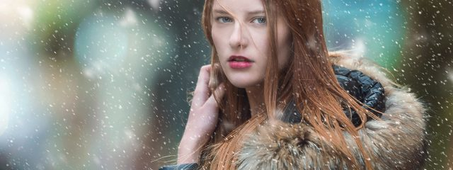 Young Woman Snow Long Hair 1280x480 640x240