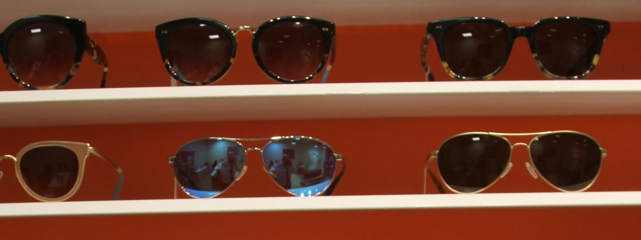 Sunglasses stand in Toronto, ON