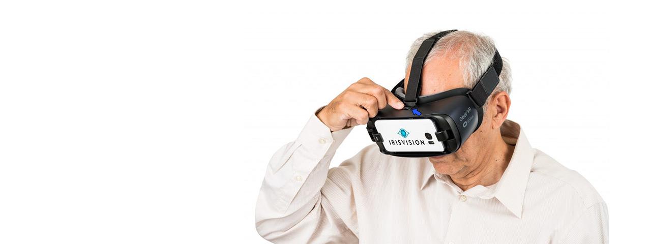 Older Man Experiencing IrisVision
