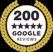 200 Reviews Badge