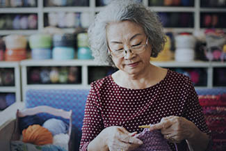 Eye care, Lifestyle of a senior Asian woman in Roselle, IL