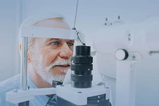 Eye care, Senior Patient Receiving Eye Exam in Roselle, IL