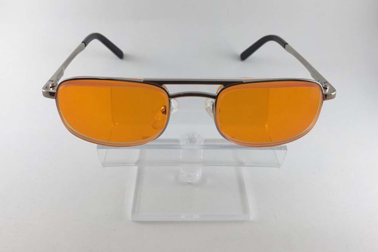 E scoop mens orange lens eyeglasses
