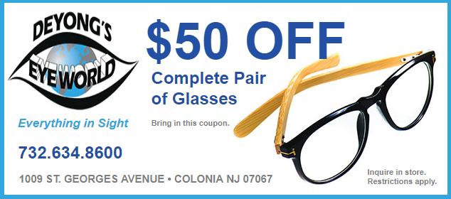 4aaeccada752  50 Off Complete Pair of Glasses