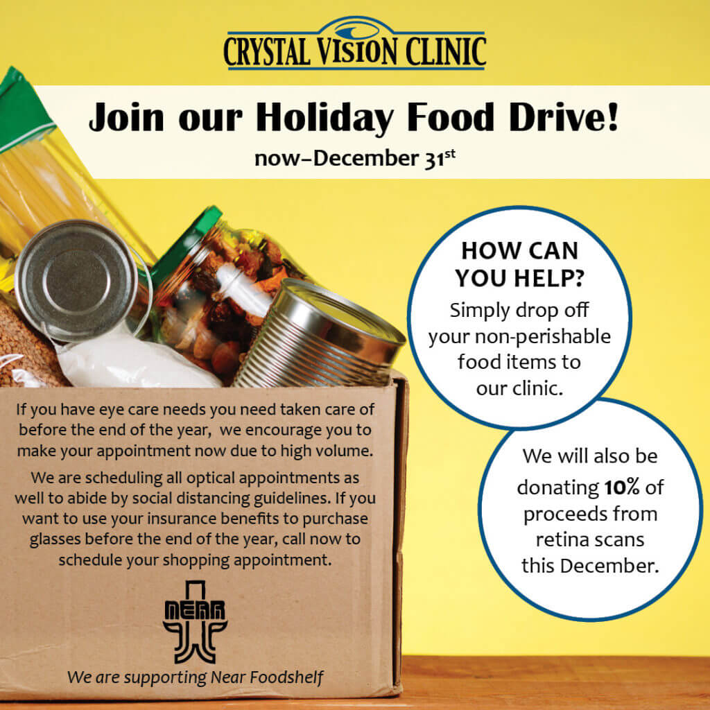 CrystalVision FoodDrive2020 socialpost callout