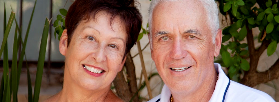 Eye exam, senior couple with diabetic retinopathy in El Segundo, Redondo Beach, CA